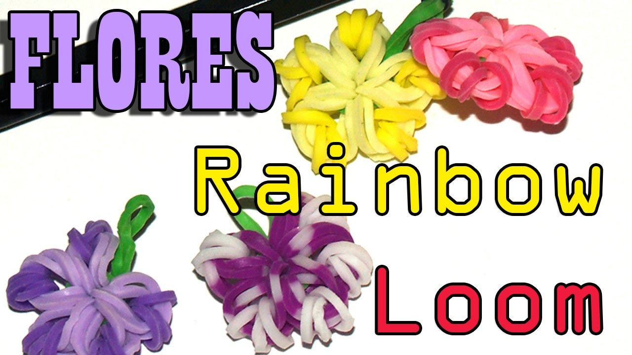 FLORES RAINBOW LOOM SUPER FACILES - DIY - FLOWERS EASY TO MAKE