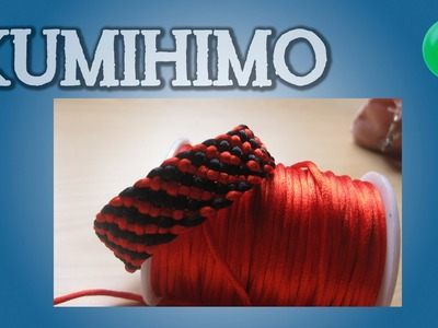 Kumihimo diagonal rojo y negro | Kumihimo | Tutorial | Es.Pandahall.com