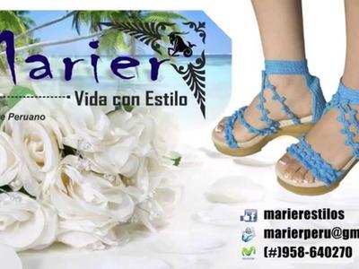 MARIER - Sandalias: Calzado Tejidas a Crochet ► Cómodos