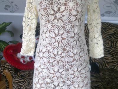 Modelos de vestidos tejidos a crochet para mujer