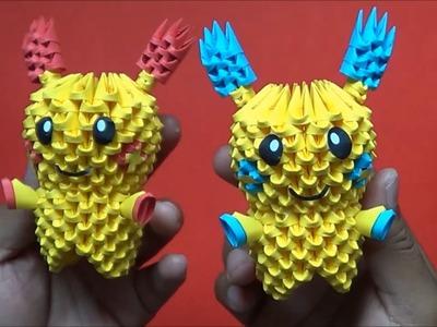 Origami 3D Minun y Plusle(Pokemon)