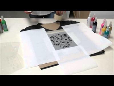 Proyecto Fashion Textil Spray T-SHIRT ROCK'N'ROLL