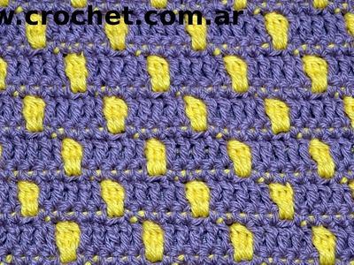 Punto Fantasía N° 50 en tejido crochet tutorial paso a paso.
