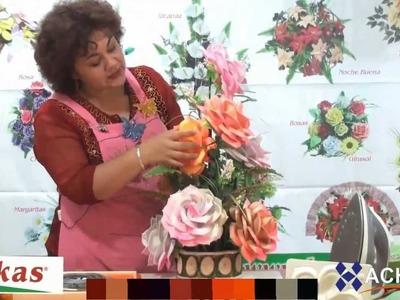 Rosas Moldes de Flores para hacer Arreglos Florales en Fomi, Goma EVA HD
