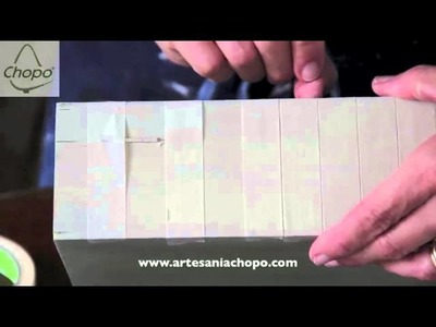 Tutorial: decorar piezas pequeñas con pintura Chalky Americana Decoart