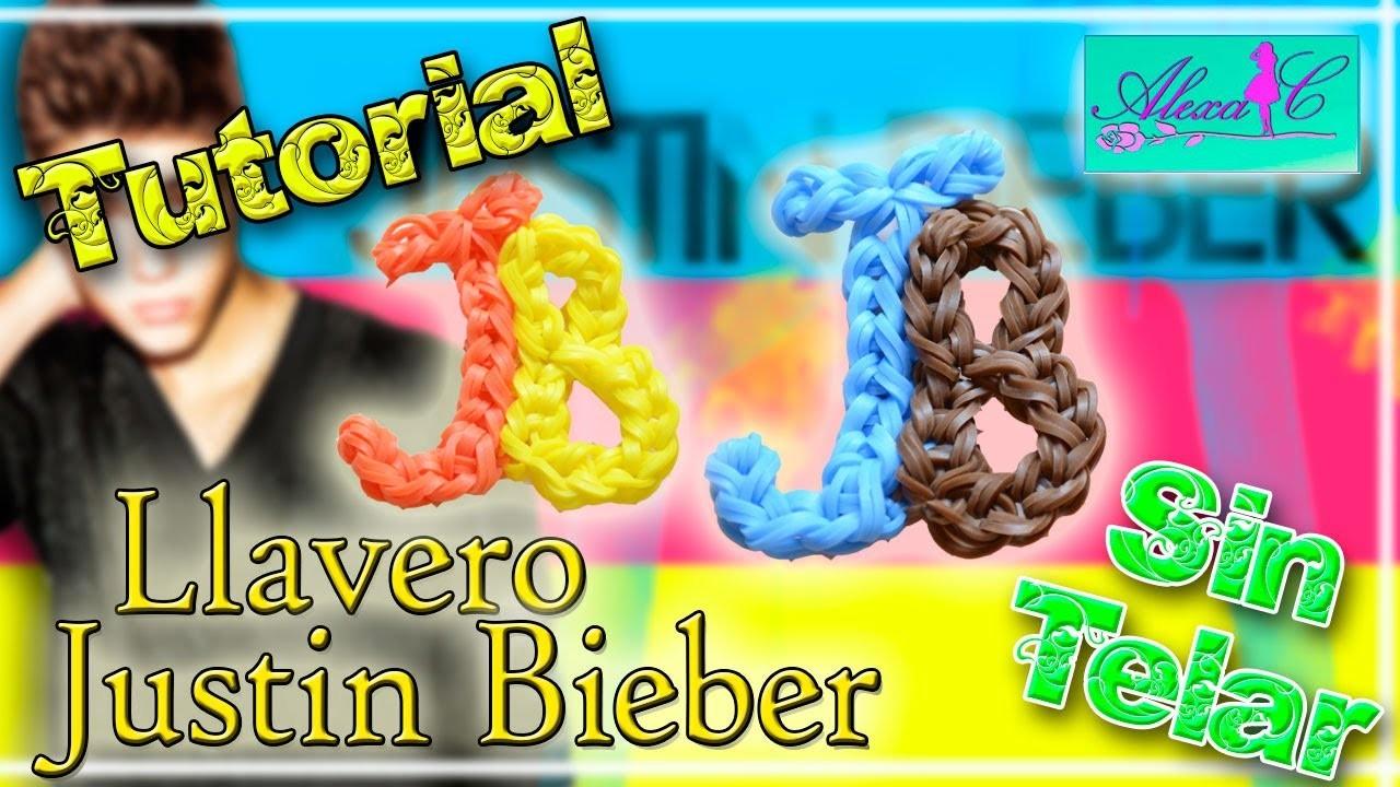 ♥ Tutorial: Llavero Justin Bieber (JB) de gomitas (sin telar) ♥