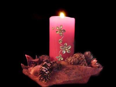 Adornos para las velas con alambre y esmalte | facilisimo.com