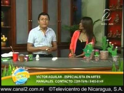 Cactus decorativos con Botellas desechables y Unicel