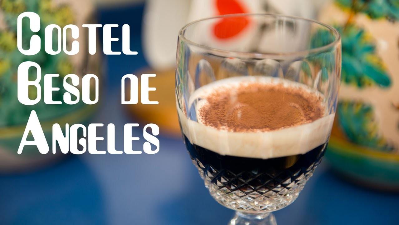 Coctel Beso de Angel con Licor de Cafe