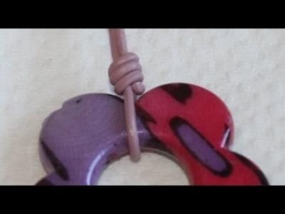 Collar doble con colgante y nudo sencillo