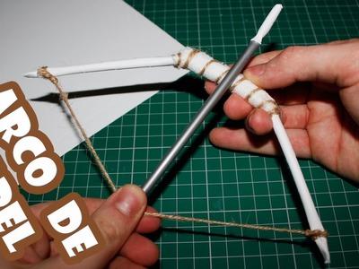 Cómo hacer un arco de papel   Armas Caseras Faciles!