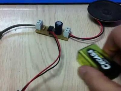 Como hacer un mini amplificador de sonido Parte 1