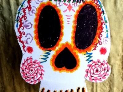 Decoración recicla tus platos desechables día de muertos Halloween manualidades
