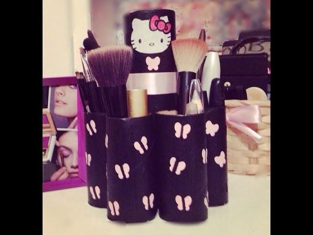 DIY Porta brochas y cosméticos ♡ DIY Makeup Brush Holder