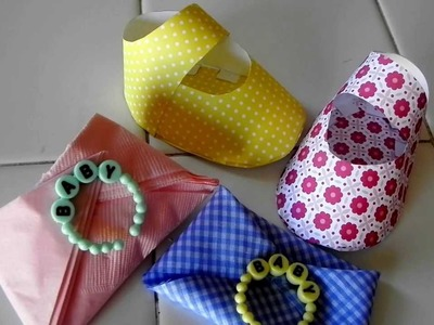 DIY- Zapatito de Bebe - Decoracion para Baby Shower-Nuestracasa2013