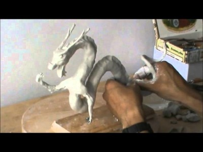 Dragón Chino (modelado en pasta Das) parte 2.3