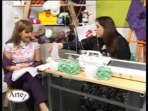 Hilados LHO en ARTEZ TV. Cómo tejer a máquina.