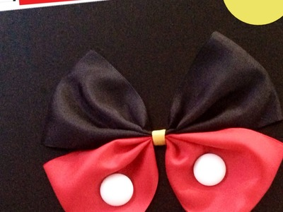 Mickey Mouse moño como hacerlo?