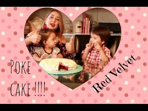 PASTEL RED VELVET AGUJERADO :O.RED VELVET POKE CAKE