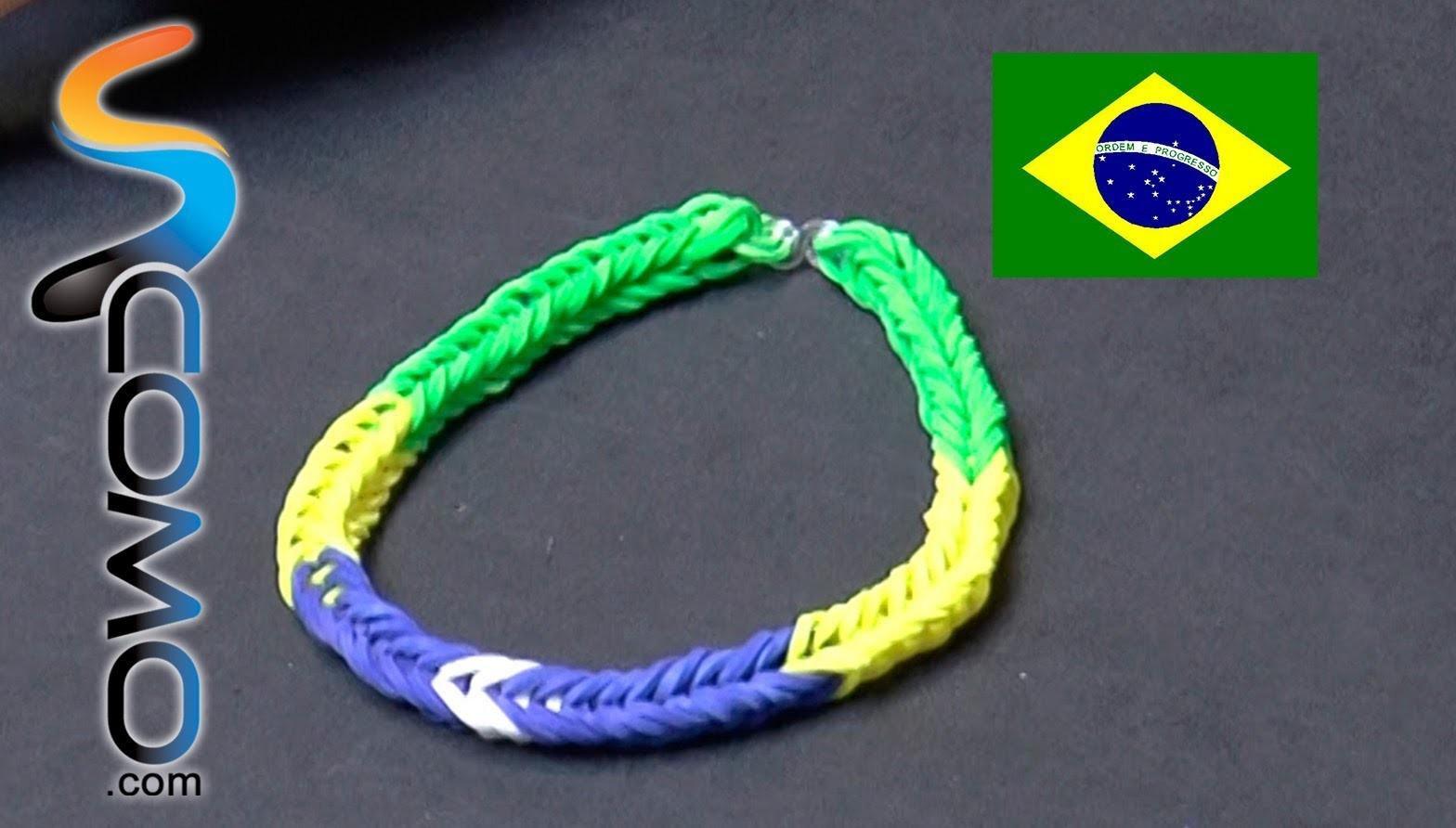Pulsera de gomitas de Brasil