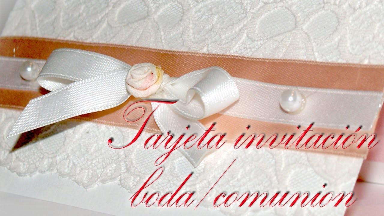 Tarjeta Invitación de Bodas o Comunión - DIY - Wedding Invitation Card or Communion