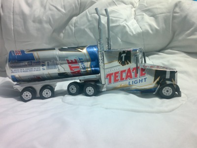 Trailer hecho con latas de aluminio tutorial   truck made ​​from aluminum cans tutorial