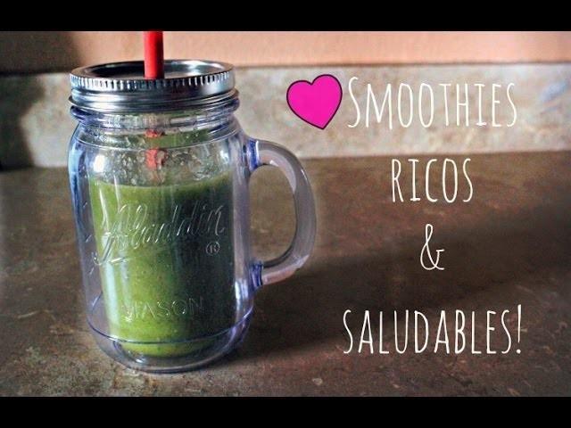 5 pasos para hacer un smoothie saludable!  #LunesSaludables