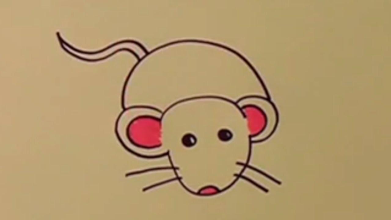 Aprende a dibujar un ratón paso a paso con los niños