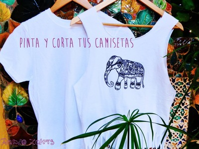 Como cortar camisetas (fácil) - How to cut T-shirt (Easy)