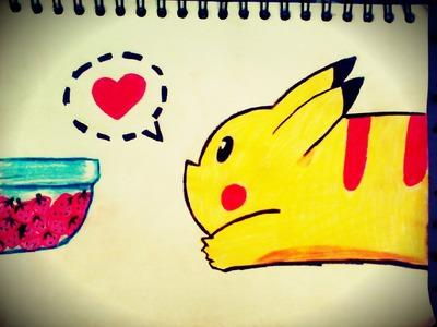 Como dibujar fácil y rápido (un pikachu)