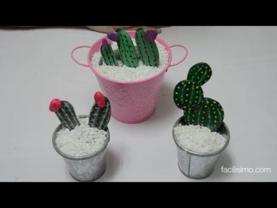 Cómo hacer cactus con piedras | facilisimo.com