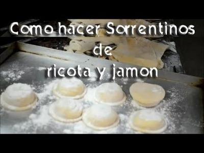 Como hacer Sorrentinos de ricota y jamon