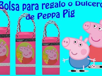 Como hacer una bolsita de papel o Dulcero de  Peppa Pig | El Mundo de MyG