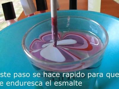 Como pintarse las uñas con Agua♥ -Super fácil!!