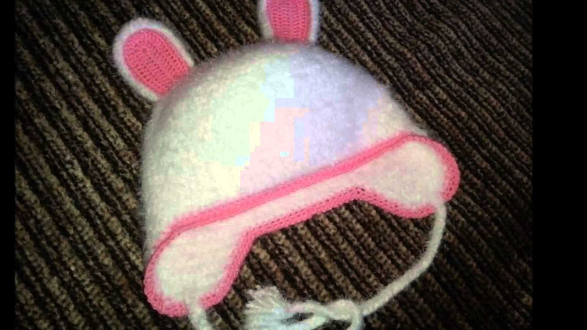 Gorro con orejas de oso a crochet