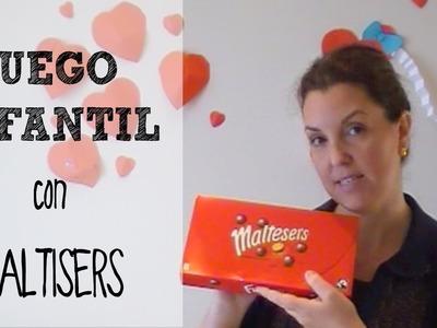Juegos caseros para niños: Minigolf con maltesers