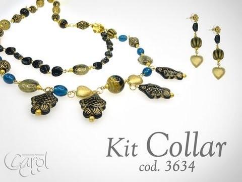KIT 3634 Kit collar acrilico pez x und