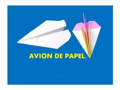 Manualidades. como hacer un avión de papel
