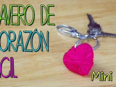 Mini Tip #14 - Cómo hacer Corazón de Hilo 3D - Llavero de Corazón -  Estambre manualidades