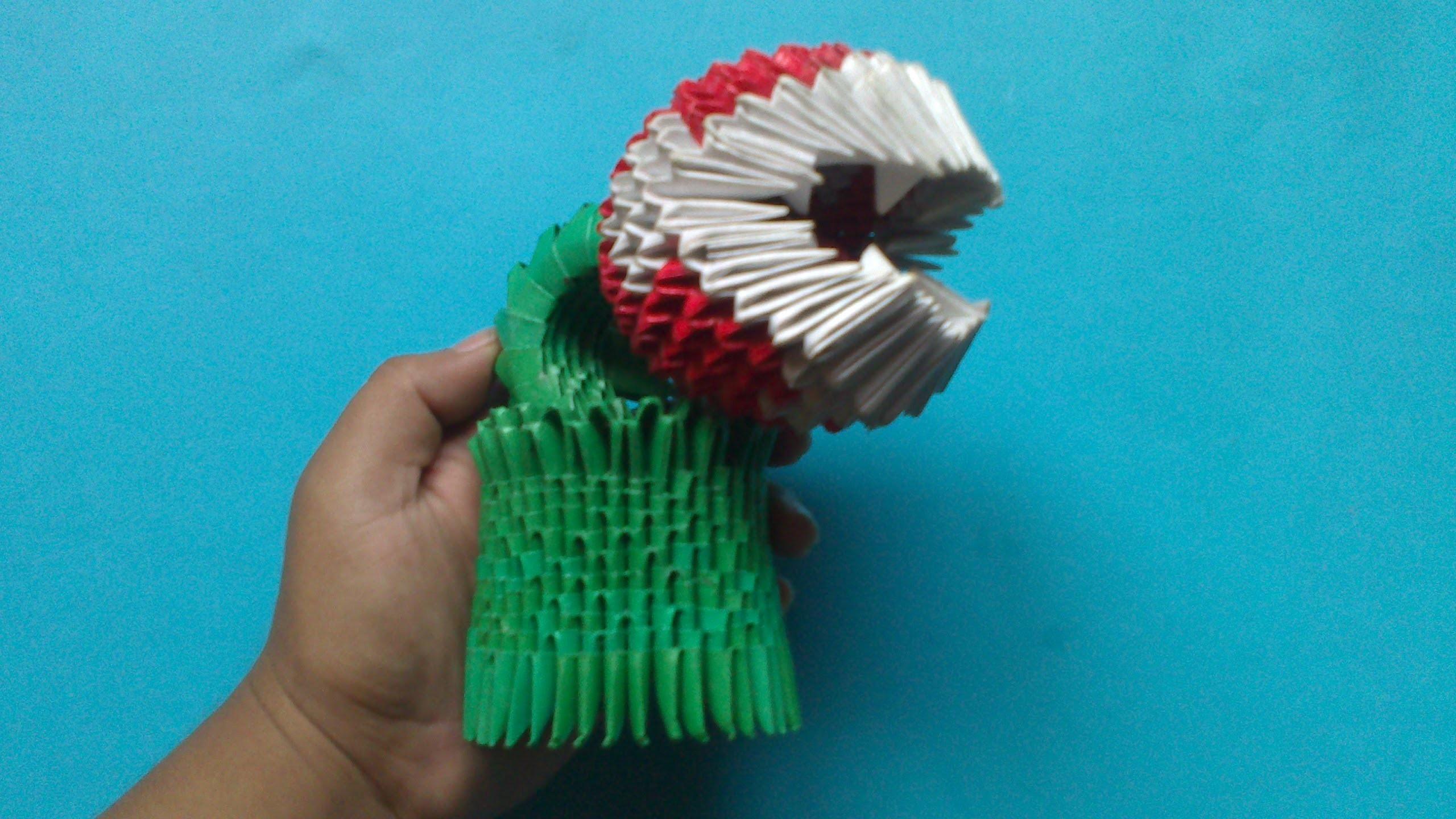 Origami 3D Planta piraña