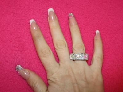 Principiantes: Tutorial cómo anillo acrílico en plata PASO A PASO (a juego con uñas )- Acrylic ring
