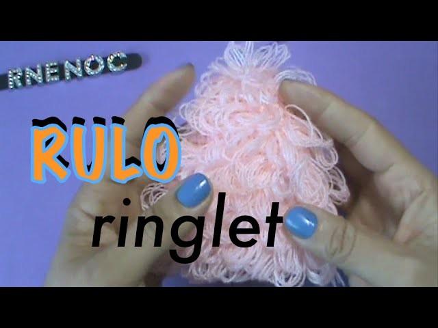 Triángulo Punto Alto Rulo, Ringlet Ganchillo Crochet