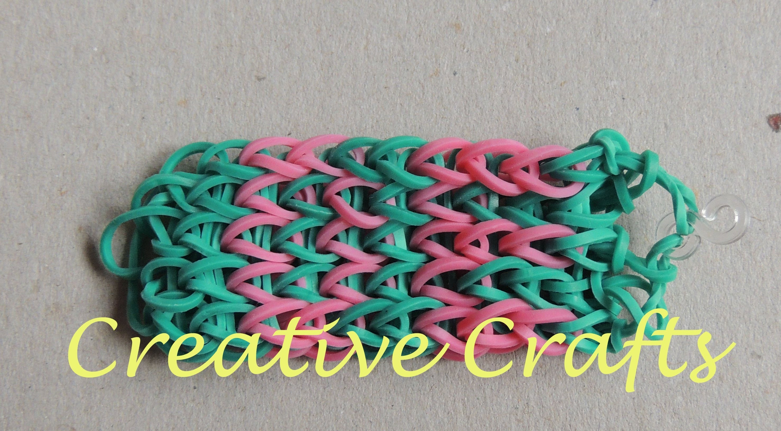 Abecedario para pulseras de gomitas con nombre  D, E. (Parte 2). Rainbow Loom name.