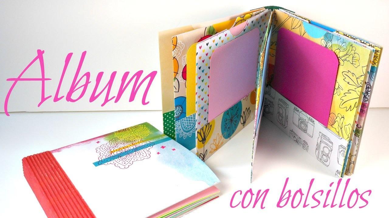Álbum con bolsillos y encuadernación de espina PASO A PASO | Scrapbooking | Mundo@Party