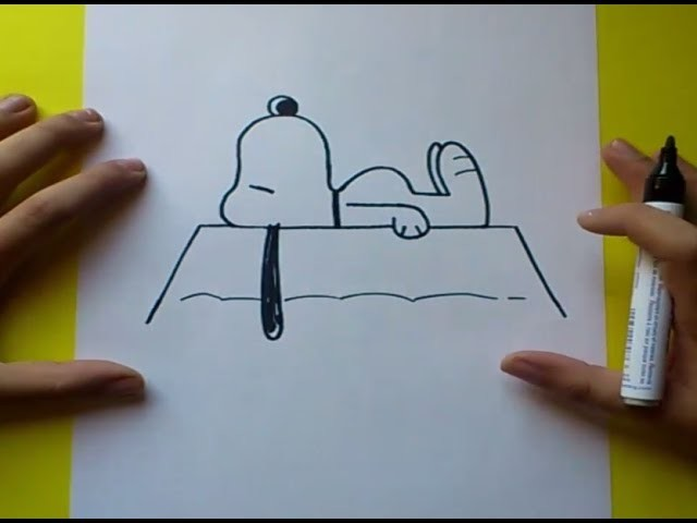 Como dibujar a Snoopy paso a paso 2 | How to draw Snoopy 2
