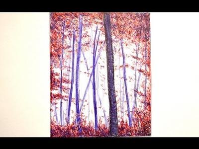 Cómo dibujar un bosque con bolígrafos de colores - Arte Divierte.