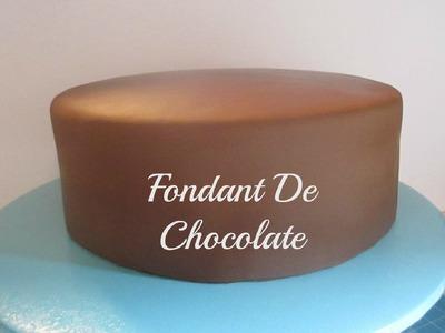Cómo Hacer Fondant De Chocolate y Cubrir El Pastel Muy Fácil! - Madelin's Cakes