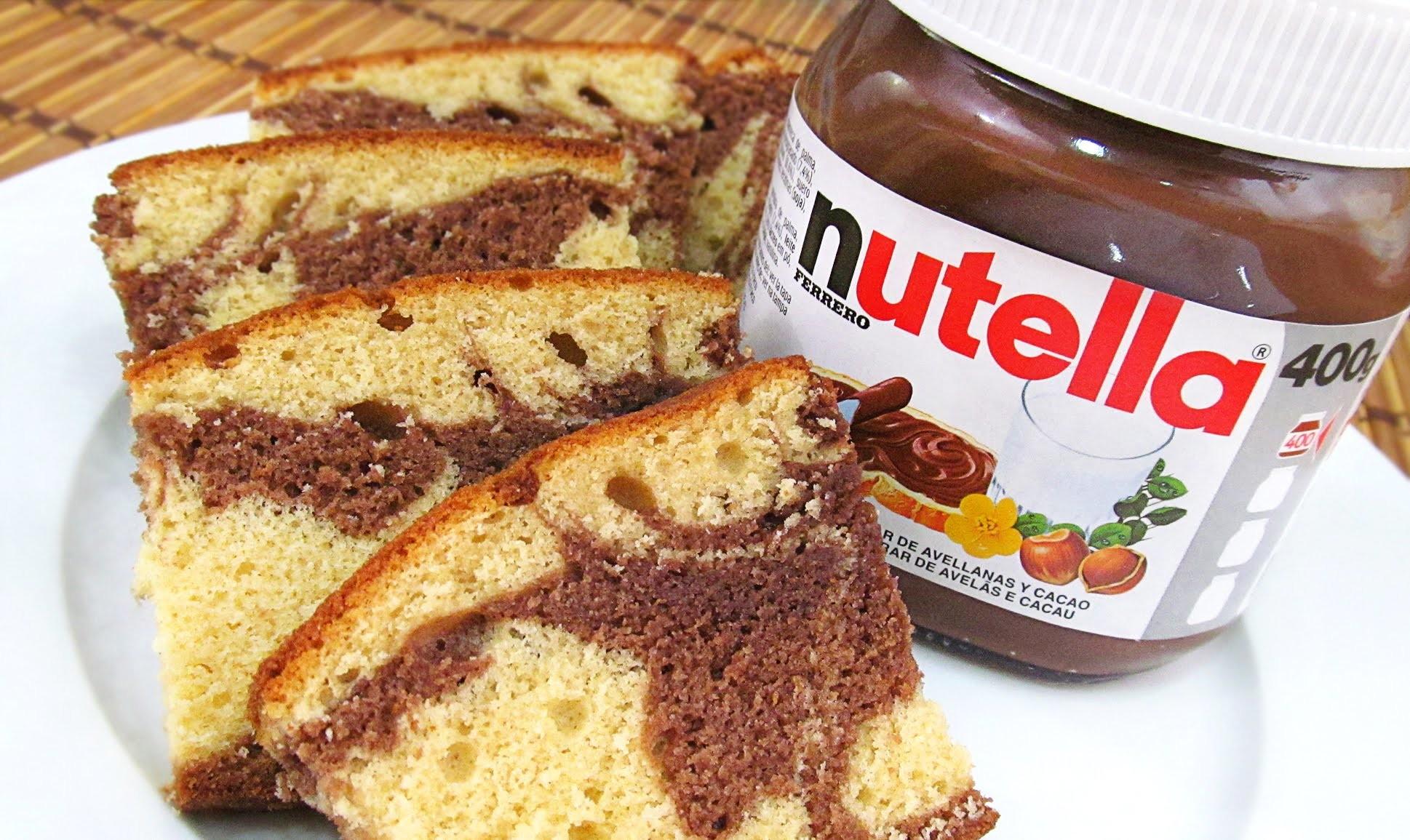 Cómo hacer un Bizcocho Marmolado de Nutella y Vainilla