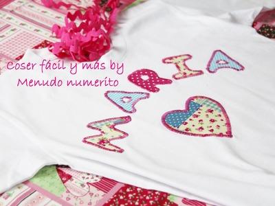 Cómo personalizar una camiseta con retales de tela
