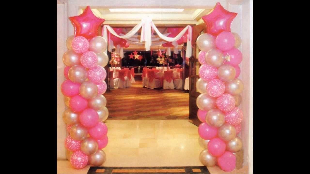 Decoracion con globos para 15 a os for Globos para quince anos